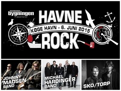 Havnerock m. Johnny Madsen Band, Michael Hardinger Band & Sko/Torp den 6. juni 2015 fra 16.00 - 23.00