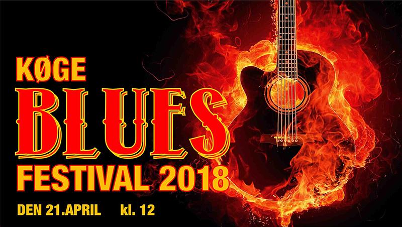 Køge Blues Festival 2018 - lørdag d. 21. april kl. 12 - 19.00 med Ole Frimmer Band, Big Creep Slim & Peter Nande, GRAPE, Blues Overdrive og Nisse Thorbjørn