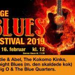 Køge Blues Festival, Lørdag d. 16. februar 2019 kl. 12.00 - 18.00.