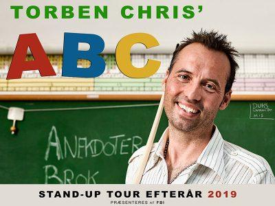"""Torben Chris besøger Bygningen den 31. oktober 2019, med sit nye show """"Torben Chris ABC"""""""