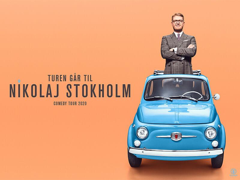 TUREN GÅR TIL NIKOLAJ STOKHOLM - Nikolaj Stokholm på Bygningen i Køge den 26. januar 2021 kl. 19 & 21.30. Hele Danmarks Stokkefar er tilbage med et nyt show.