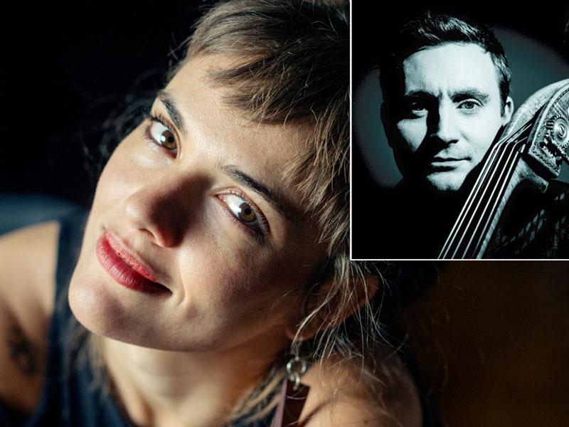 Camille Bertault / Thomas Fonnesbæk Duo - to enestående musikere i inspireret sammenspil - på Musikforeningen Bygningen i Køge, fredag den 15. november kl. 20.00