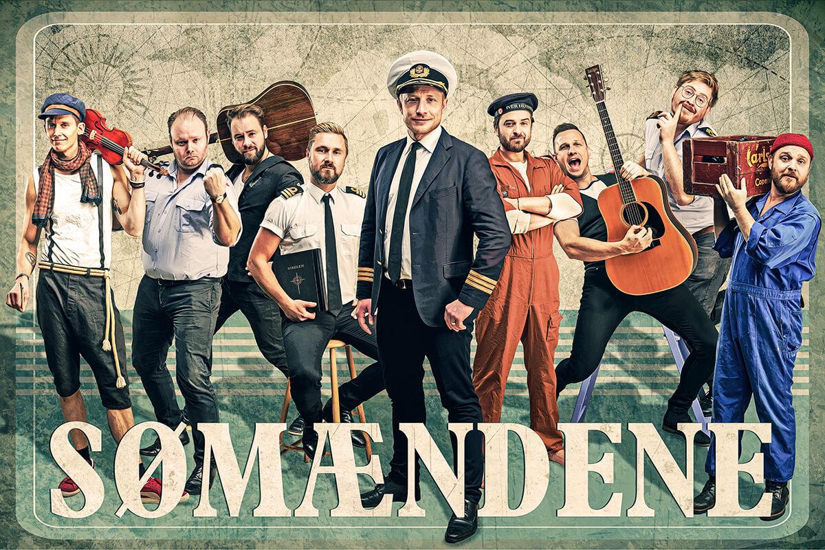 """Sømændene og deres charmerende """"mole-punk"""" går i """"land"""" på Musikforeningen Bygningen i Køge, lørdag d. 20. marts 2020 kl. 20. De har i mere end 15 år været er et af de mest originale indslag på den danske musikscene."""