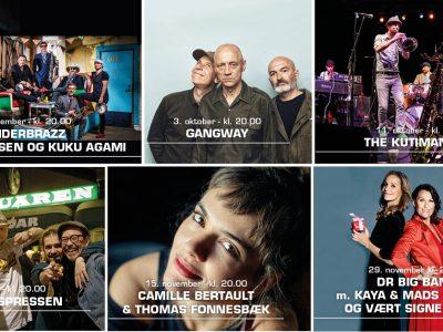 6 af Musikforeningen Bygningens koncerter til en uforskammet lav pris...et eksklusivt tilbud til medlemmer af Musikforeningen.