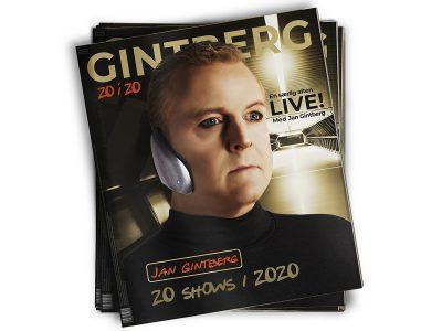 GINTBERG 20 i 20 - en særlig aften med Jan Gintberg. Torsdag den 7. maj 2020 kl. 19.00 og 21.30 på Musikforeningen Bygningen i Køge.