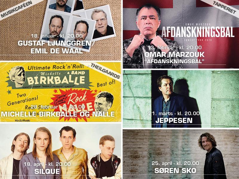 """6 på Opleveren"" Musikforeningen Bygningens medlemstilbud på 6 koncerter til en uforskammet lav pris."