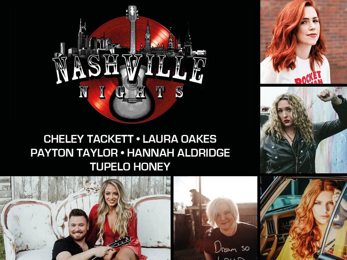 Nashville Nights – en aften med nogle af de største sangskrivere i dansk og amerikansk countrymusik på Musikforeningen Bygningen i Køge den 15. september.